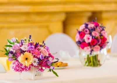 meja bunga